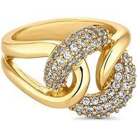 Jon Richard gold crystal knot ring at JD Williams Catalogue