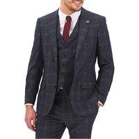 Denim Check Derek Windowpane Suit Jacket