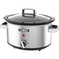 'Tower 3.5l Stainless Steel Slow Cooker