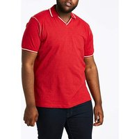 Trophy Neck Red Polo L