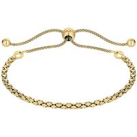 Simply Silver Gold Twist Toggle Bracelet.