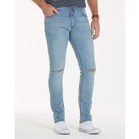 Label J Rip Knee Skinny Jean Short