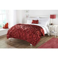 Cascade home pinched satin throw