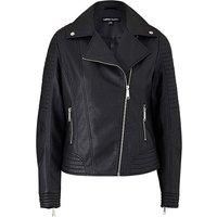 Petite Faux Leather Biker Jacket at JD Williams Catalogue