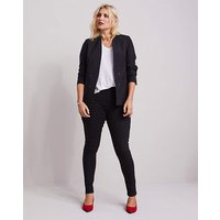 Edge to Edge Black Fashion Blazer at JD Williams Catalogue