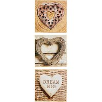Arthouse Rustic Hearts Set of 3 Prints