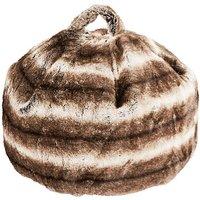 Brown Faux Fur Bean Bag