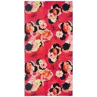 Coral Floral Beach Towel