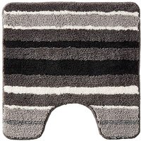 Oslo Stripes Pedestal Mat Black & White