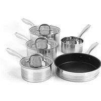 Salter 5 Piece Stainless Steel Pan Set
