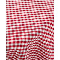 Gingham Check Cotton Round Table Cloth