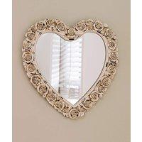 Rose Border 3D Heart Mirror