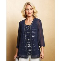 Nightingales Navy Blouse and Jacket