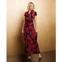 Nightingales Print Jersey Maxi Dress
