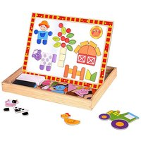 Tooky Toy Wooden Magnetic Activity Board.