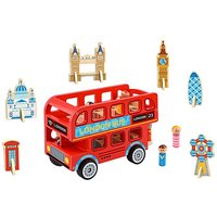 Tooky Toy Wooden London Bus - 10 Piece.