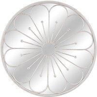 80cm White Garden Flower Mirror
