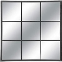 90cm Black Square Garden Panel Mirror