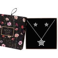 Mood Crystal Snowflake Jewellery Set