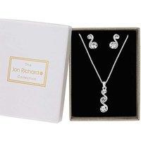 Jon Richard Crystal Wave Jewellery Set