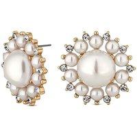 Mood Pearl Floral Stud Earring
