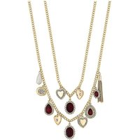 Mood Crystal Charm Multi Row Necklace