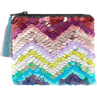 Accessorize Zig Zag Sequin Rainbow Purse
