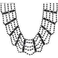 Mood Black Web Necklace