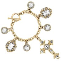 Mood Gold Cross Bracelet