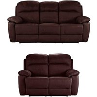 Roma Leather 3 plus 2 Seater Recliner