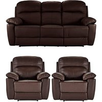 Roma Leather 3 Seater and 2 Chairs