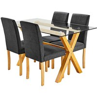 Albany Rectangular Table 4 Mia Chairs