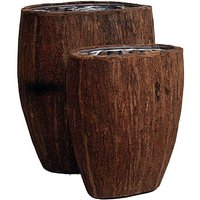 Natural Wood Oval Planter