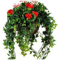 Artificial Plant Geranium Basket