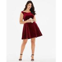 Coast Kimberly Velvet Dress