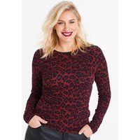 Oasis Curve Animal Boatneck Top