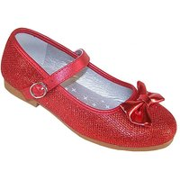 Sparkle Club Red Ballerina Shoes