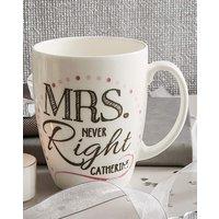 Personalised Mrs Conical Mug