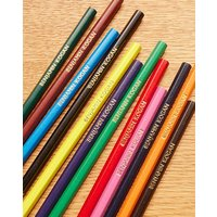 12 Personalised Colouring Pencils