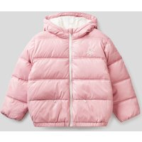 Benetton, Padded Jacket In Recycled Wadding, size XS, Pink, Kids