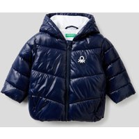 Benetton, Padded Jacket In Recycled Wadding, size 62, Dark Blue, Kids