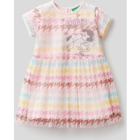 Benetton, Houndstooth Dress With Peanuts Graphic, size 62, Soft Pink, Kids