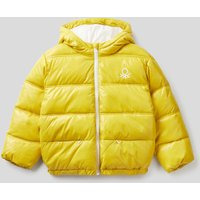 Benetton, Padded Jacket In Recycled Wadding, size L, Yellow, Kids