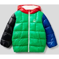 Benetton, Padded Jacket In Recycled Wadding, size XS, Multi-color, Kids