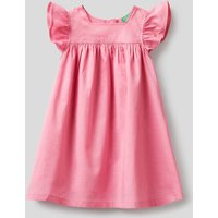 Benetton, Wide Dress In 100% Cotton, size 90, Pink, Kids