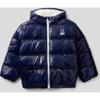 Benetton, Padded Jacket In Recycled Wadding, size KL, Dark Blue, Kids