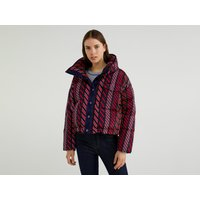 Benetton, Printed Puffer Jacket, size XS, Multi-color, Women