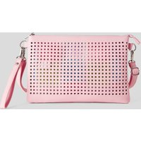 Benetton, Perforated Bag With Removable Clutch, size ST, Pink, Women
