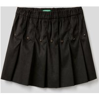Benetton, Pleated Skirt With Studs, size KL, Black, Kids