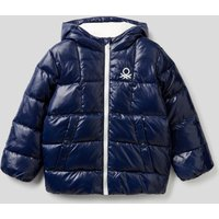 Benetton, Padded Jacket In Recycled Wadding, size XS, Dark Blue, Kids